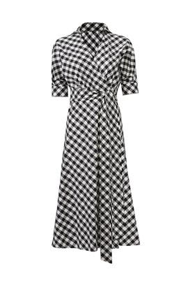 Gingham Luna Wrap Dress by Habitual