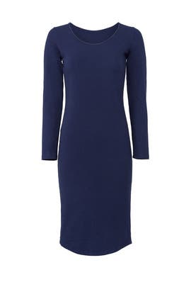 Navy Scoop Neck Dress by MONROW