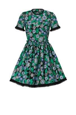 Green Daisy Dress by Shoshanna