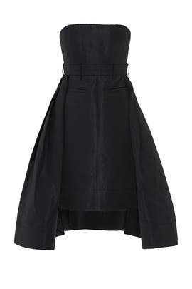 Black Bustier High-Low Dress by Vera Wang