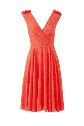 Polka Dot Full Skirt Dress by Christian Siriano
