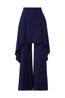 Blue Gulia Trousers by Osman