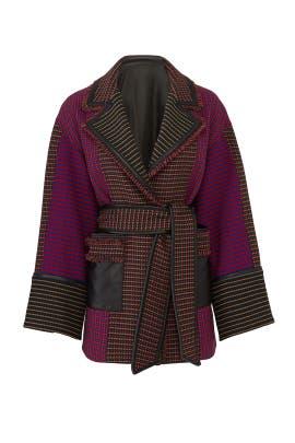 Houndstooth Joyce Coat by Tanya Taylor