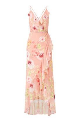 Floral Meadow Wrap Maxi by Yumi Kim