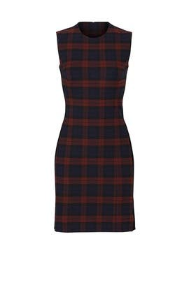 Plaid Godet Dress by 10 CROSBY DEREK LAM