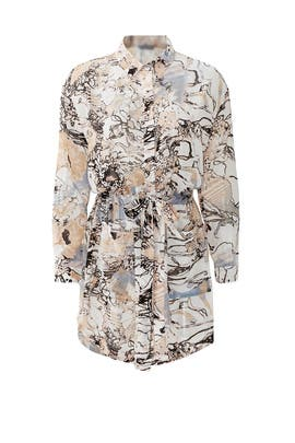 Floral Frenzy Shirtdress by ELLIATT