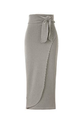 Ling Faux Wrap Skirt by Mara Hoffman