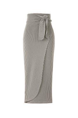 Ling Faux Wrap Skirt by Mara Hoffman