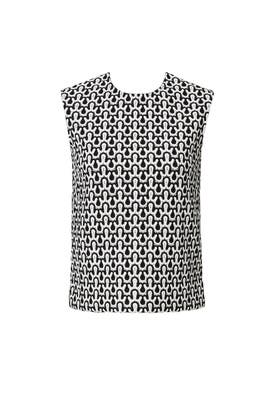 Crochet Lace Shell Top by DEREK LAM