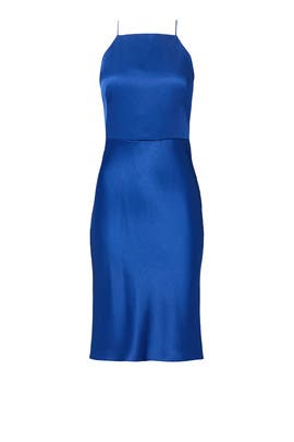 Cobalt Skinny Halter Dress by Jason Wu
