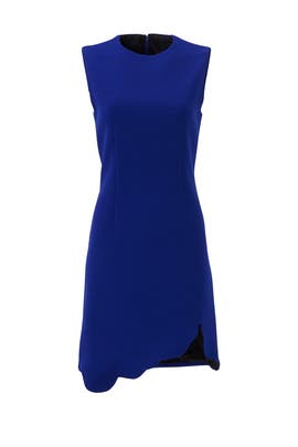 Marine Crepe Scallop Dress by Carven