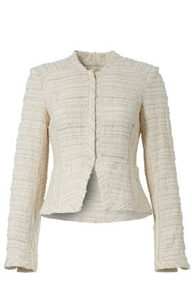 Cream Cropped Jacket by Derek Lam 10 Crosby
