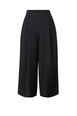 Black Holly Crepe Culottes by Diane von Furstenberg