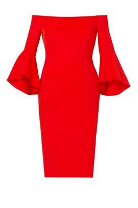 Red Studio Off Shoulder Dress by ELOQUII