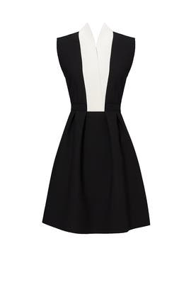 Black Contrast Dress by MSGM