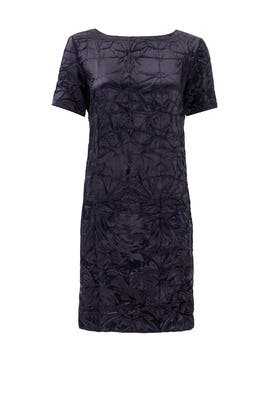 Navy Crinkle Dress by Nina Ricci