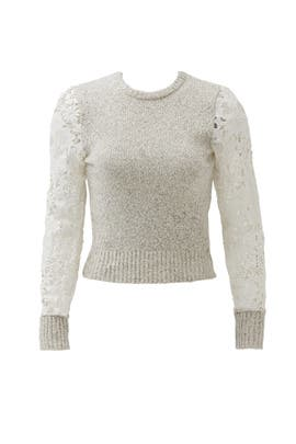 Milk Lace Knit Sweater by See by Chloe