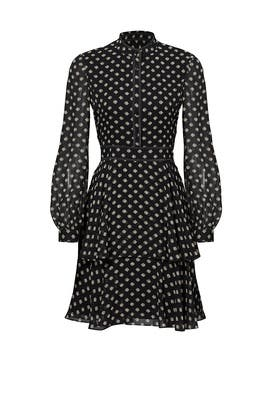 Black Polka Dot Chiffon Dress by Tory Burch