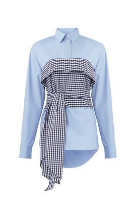 Mix Print Tie Blouse by Cedric Charlier