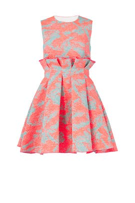Pink Printed Jacquard Dress by MSGM