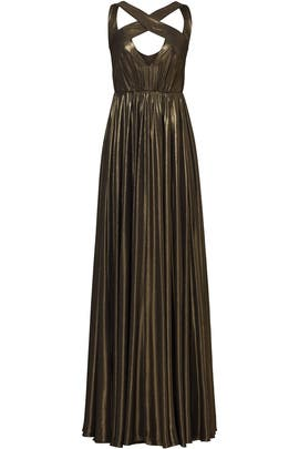 Bronze Flow Gown by Halston Heritage