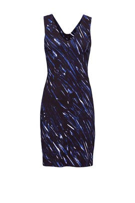 Navy Brushstroke V Sheath by Milly