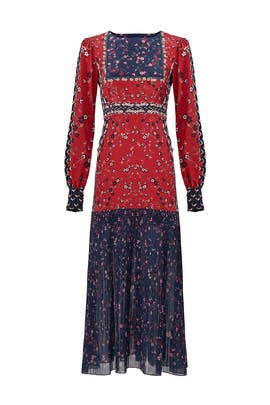 Red Printed Vera Dress by SALONI