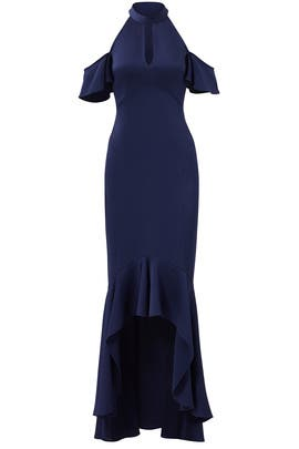Navy Montrose Gown by Shoshanna