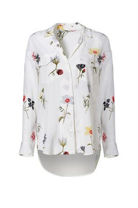 White Floral Ansley Button Down by Equipment