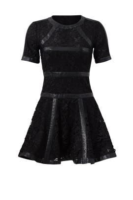 Leather Stripe Dress by The Kooples