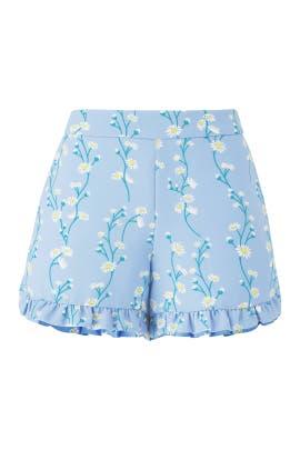 Daisy Vine Ruffle Shorts by Draper James