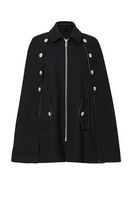 Black Military Button Cape by See by Chloe