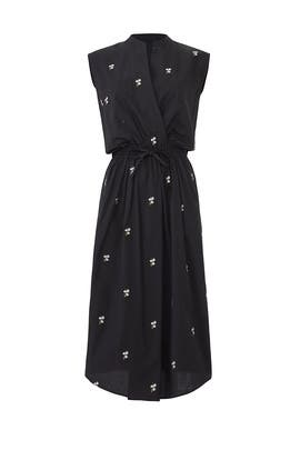 Micro Floral Utility Dress by VINCE.