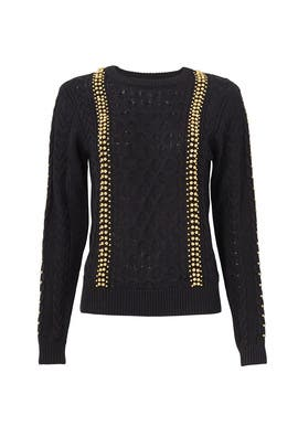 Black Woven Sweater by Endless Rose