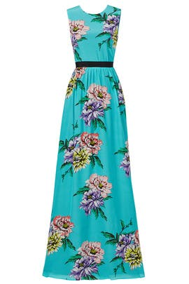 Blue Crisp Bloom Gown by MARCOBOLOGNA