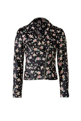 Floral Wes Moto Jacket by Rebecca Minkoff