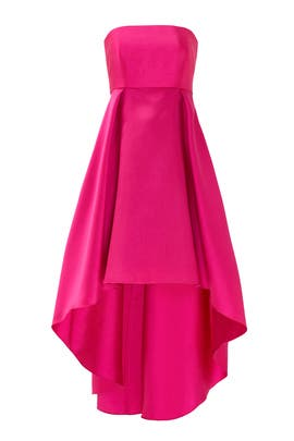 Fuchsia Peek Around Gown by Slate & Willow