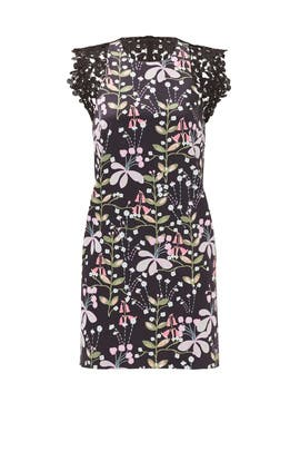 Dark Floral Garden Shift by Cynthia Rowley