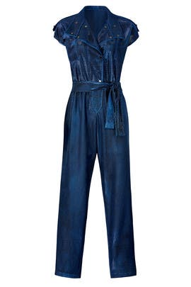 Retro Blue Jumpsuit by Carolina Ritzler