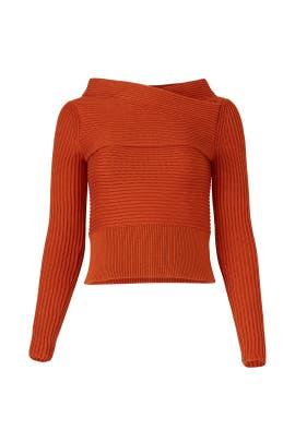 Rust Rees Sweater by DREYDEN