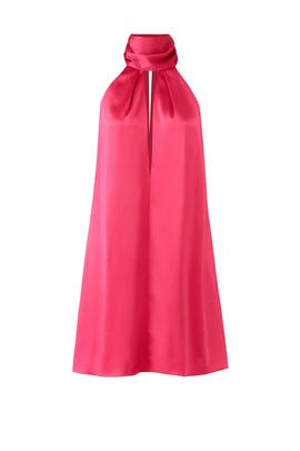 Raspberry Sash Dress by GALVAN