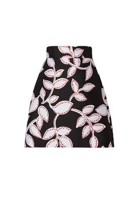 Pink Floral Jacquard Skirt by MSGM