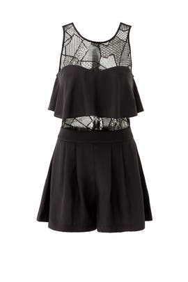 Black Kamal Romper by Parker
