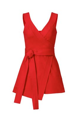 Red Lexi Skort Romper by Alexis