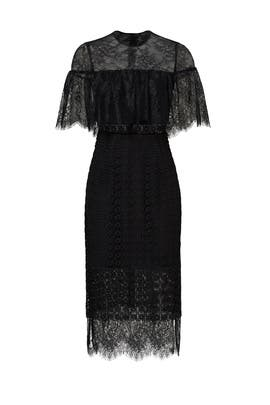 Black Sheer Popover Dress by Cynthia Rowley