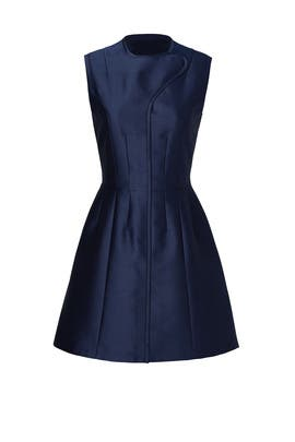 Blue Mikado Dress by Carven