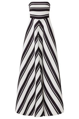 Barber Stripe Gown by Halston Heritage