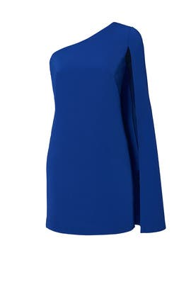 Sapphire Cape Shift Cocktail Dress by Jill Jill Stuart
