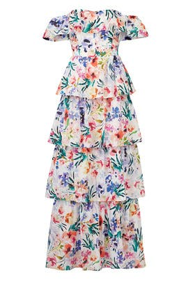 Floral Venezia Gown by Amanda Uprichard