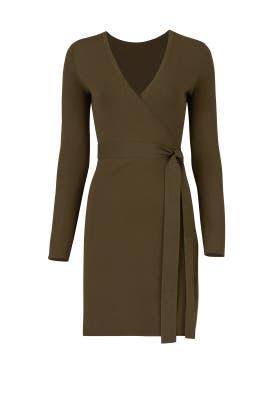 Green Knit Wrap Dress by Diane von Furstenberg
